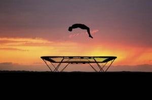 Trampoline tricks and gymnastics videos