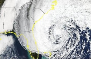 Super Storm Sandy weather image