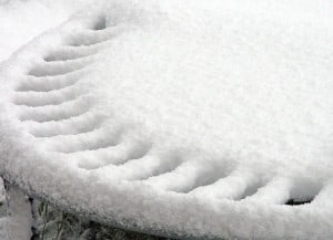 We recommend getting snow off as quickly as possible for trampoline winter care.