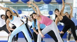 People exercising wearing workout gear