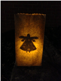 Kids Craft Luminaria - Angel
