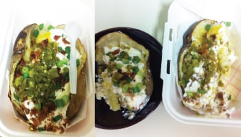Baked potato with toppings