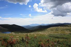 Beautiful countryside in the mountains is a good place for meditation