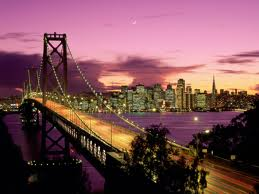 San Francisco Bay Area at sunset after JumpSport regional demo