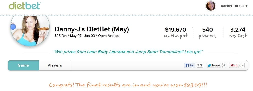 DietBet stats image