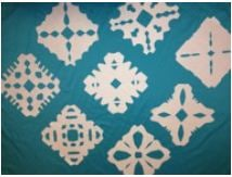 Snowflake craft completed example