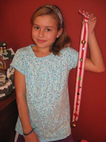 Daughter of Ann C Brown with Advent ribbon