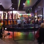 Charity event for children with special needs using an Alley OOP trampoline