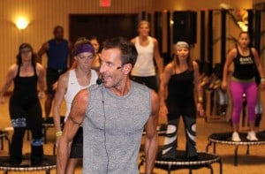 JumpSport Fitness trampoline instructor Jeff McMullen teaching a class at ECA Miami 2010