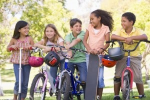 Bike rides with friends will ensure your kids get enough exercise.