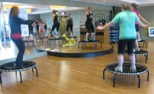 FitBoston JumpSport Fitness trampoline workout class