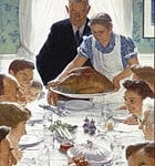 Norman Rockwell Painting Freedom From Want Happy Thanksgiving Enjoying Family Traditions