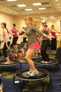 JumpSport Fitness Trampoline class at FitBloggin' 2011