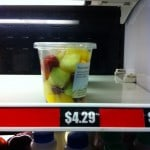 A small fruit container at the airport was expensive