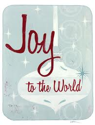 Joy to the world graphic