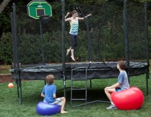 jumping on the trampoline is the best exercise for kids