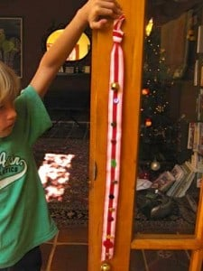 Son of Ann C Brown with Advent ribbon