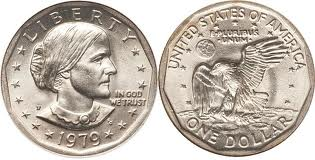 Susan B Anthony dollar coin front and back