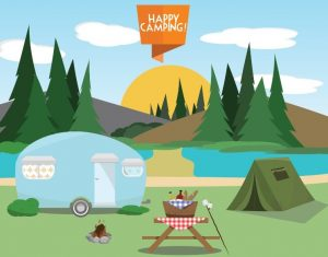 A traditional campsite is not required for a trampoline tent