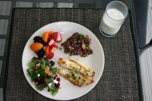 USDA My Plate standard showing proper food portions