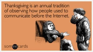 New thanksgiving tradition social media