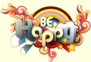 Be happy rainbow image