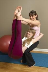 Women doing a partner workout