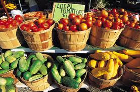 local grown produce for canning food