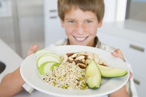 Fresh fruit and whole grains make easy meals for school!