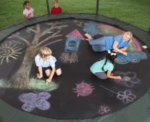 A trampoline can be part of Family Fun Day