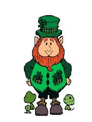 Leprechaun ready for his st patricks day workout