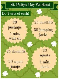 st patricks day workout routine